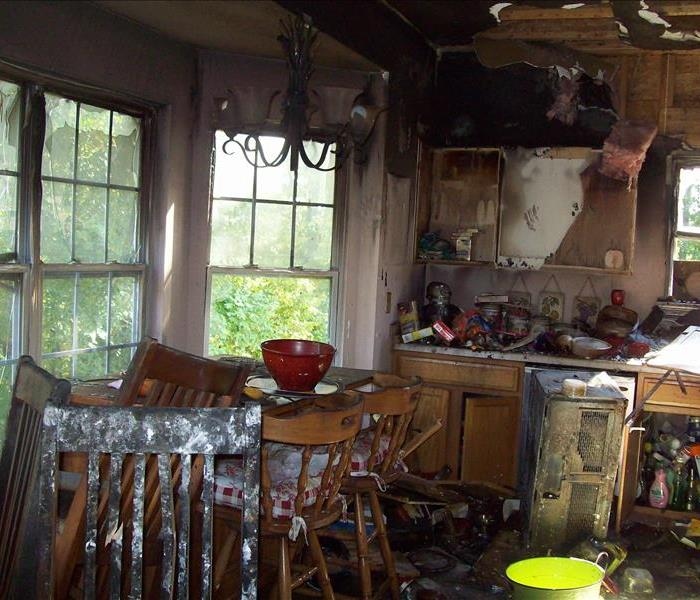 fire damaged kitchen in Savage